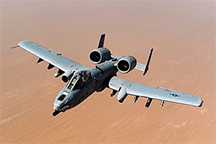 An A-10 Thunderbolt II over Afghanistan in 2011