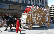 An actual bandwagon in a circus parade
