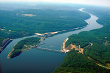 The John Hollis Bankhead Lock and Dam on the Black Warrior River in Tuscaloosa County, Alabama