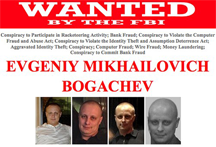 The FBI wanted poster for Evgeniy Mikhailovich Bogachev, a Russian cyber criminal