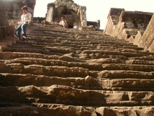 Ancient stairs at ruins in Cambodia