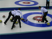 The United States curling team at the Torino Olympics in 2006