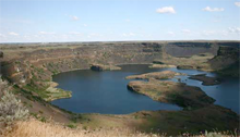 Dry Falls, in Grand County, Washington State