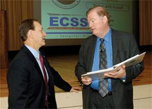 Ross Marshall and Don Pugh at the kickoff meeting for the Expeditionary Combat Support System (ECSS) at Tinker Air Force Base