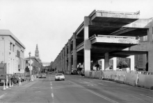 The Embarcadero Freeway, halted by the California Freeway Revolt.