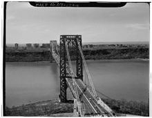 The George Washington Bridge, spanning the Hudson River between Manhattan and Fort Lee, New Jersey