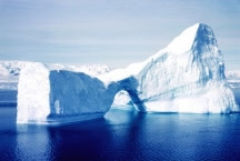 An iceberg in Antarctica's Gerlache Strait, March 1962