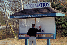 Using an information kiosk