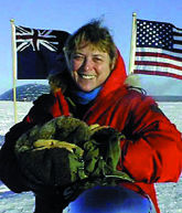 Dr. Jerri Nielsen at Amundsen-Scott South Pole Station in 1999