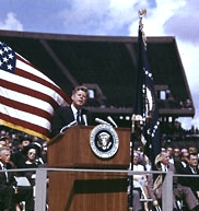 US President John Kennedy set a goal of a trip to the moon
