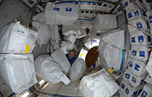 Clutter in the Leonardo Module of the International Space Station