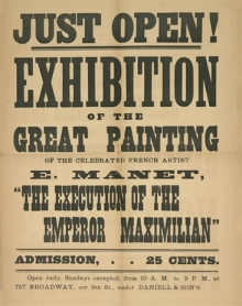 Handbill for the exhibition of Manet's The Execution of Emperor Maximilian