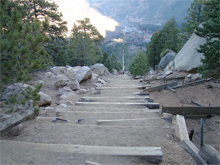 A view from the false summit of the Manitou incline in Colorado