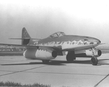 The Messerschmitt Me 262, which was the first jet fighter to fly in combat