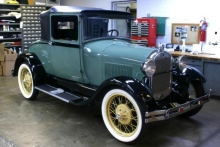 A 1928 Ford Model A Business Coupe