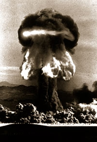 The mushroom cloud from the Grable test of 1953