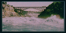 The Niagara River and cantilever bridge