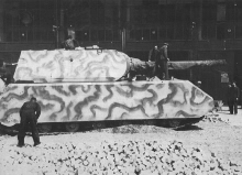 The Panzerkampfwagen VIII, a German World War II super-heavy tank