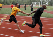 Passing the baton in a relay race