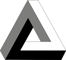 The Penrose triangle, an impossible object