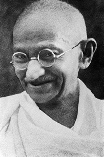 Mohandas K. Ghandi, in the 1930s