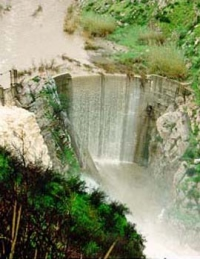 The Rindge Dam, in Malibu Canyon, California