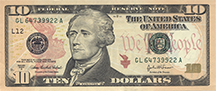 A ten-dollar bill