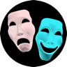 Masks of Tragedy and Comedy