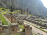 The ruins of the Temple of Apollo at Delphi