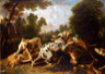 Dogs Fighting in a Wooded Clearing, by Frans Snyders
