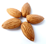 Five almonds