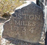 One of the Franklin Milestones on the Boston Post Road