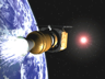 Computer-generated image of the third stage ignition for Mars Climate Orbiter