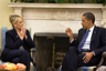 U.S. President Barack Obama and Arizona Governor Jan Brewer conferring in the Oval Office in 2010
