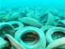 A tire reef off the coast of Fort Lauderdale, Florida