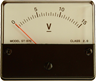 A voltmeter with a needle