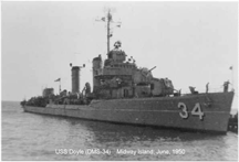 The USS Doyle as DMS-34, when she played The Caine
