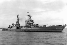 The USS Indianapolis on July 10, 1945, off Mare Island