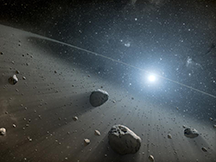 Artist's conception of an asteroid belt around the star Vega
