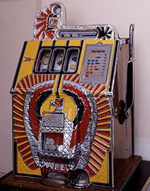 Vintage slot machine at the Casino Legends Hall of Fame at the Tropicana Las Vegas Casino Hotel Resort, Nevada