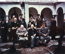 Allied leaders at the Yalta Conference in February, 1945