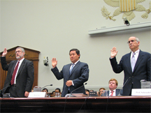 David Addington, John Yoo, and Chris Schroeder testify before the U.S. House Judiciary Committee