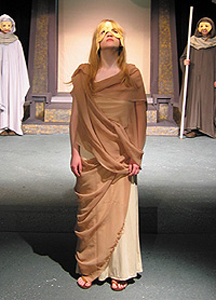A scene from the Orphan Girl Theatre's production of Antigone at the Butte Center for the Performing Arts
