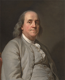Benjamin Franklin portrait by Joseph Siffred Duplessis
