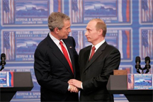 President George W. Bush and President Vladimir Putin