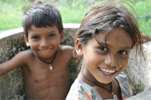 Smiling children. Nobody knows how to smile like kids do.