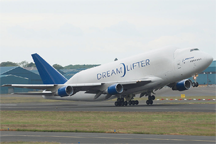 Boeing 747-409LCF Dreamlifter at Edinburgh Airport