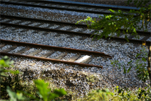 The end of the line for a railroad track