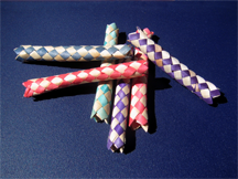 Child's toys known as Chinese finger traps