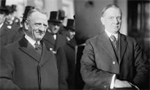 Senator Carter Glass (Democrat of Virginia) and Representative Henry B. Steagall (Democrat, Alabama Third), the co-sponsors of the Glass-Steagall Act